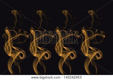 Twisted Fire Pattern Decorative Design. Dancing Decor