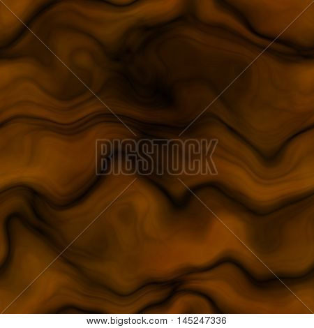 Ochre orange background decorated curves and waves
