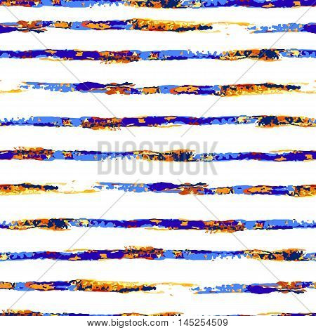 Vector colorful seamless striped pattern in watercolor style. Can be used for wallpaper, pattern fills, web page, surface textures, textile print, wrapping paper.