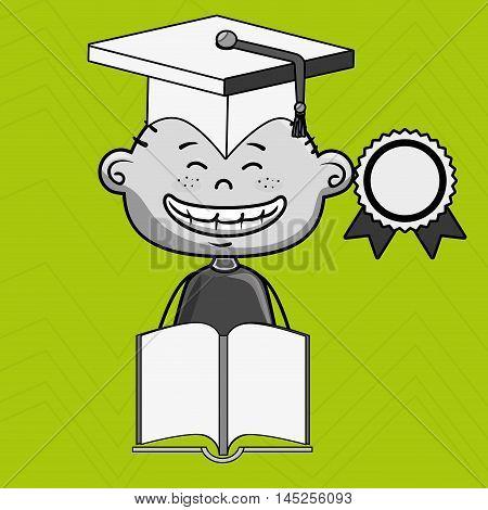 boy student book cap vector illustration eps10 esp 10