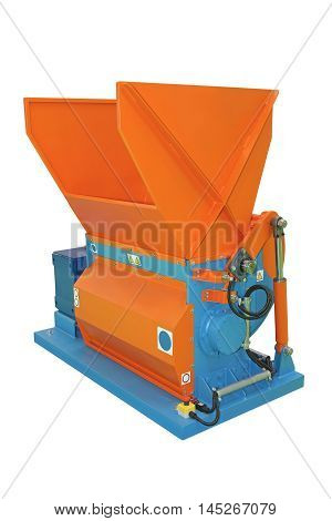 Single Shaft Shredder Industrial Grinder Recycling Isolated