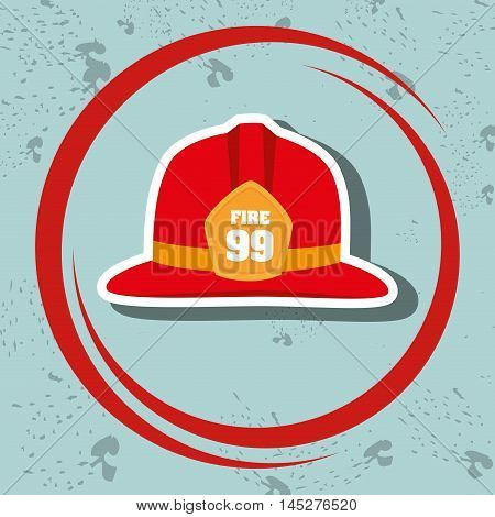 helmet fire hat icon vector illustration eps 10
