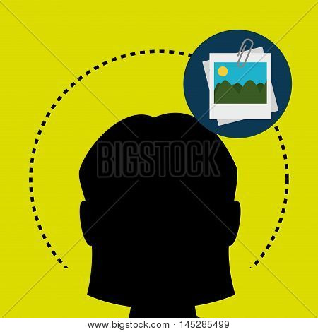 silhouette photo image icon vector illustration eps 10