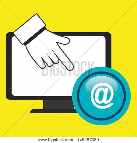 laptop at hand icon vector illustration eps10