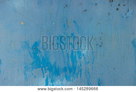 Grange Looking Blue Metal Background With Rust And Paint