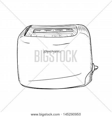 Vector Sketch Of Toaster