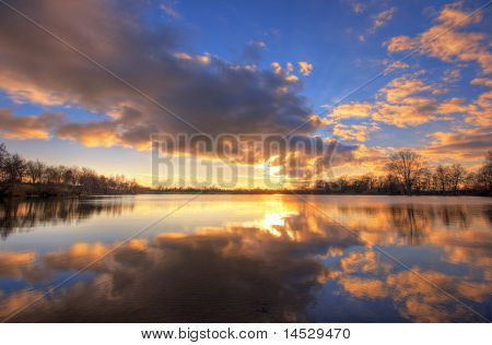 See bei Sonnenuntergang