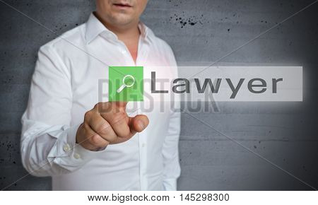 Lawyer Browser Is Operated By Man Concept