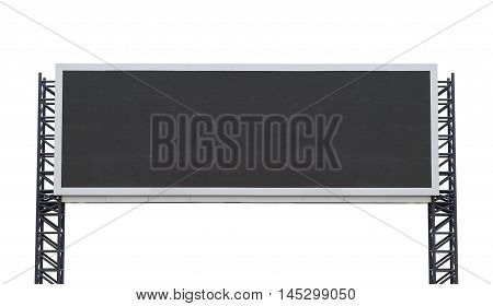 Large-long scoreboard stadium isolated on white background. use clipping path