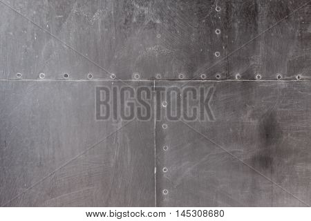 Metal plate steel background or texture, close up