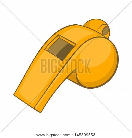 Whistle of referee icon in cartoon style isolated on white background. Sport symbol