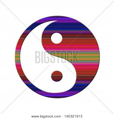 Symbol of Yin - Yang on a white background
