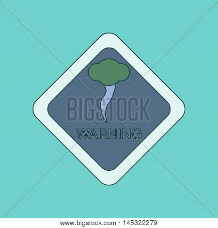 flat icon on stylish background hurricane tornado, vector