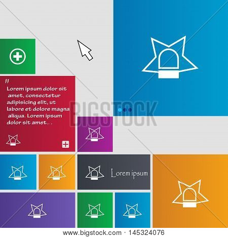 Police Single Icon Sign. Buttons. Modern Interface Website Buttons With Cursor Pointer. Vector