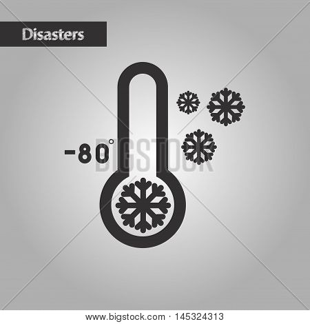 black and white style nature thermometer cold weather