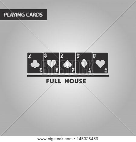 black and white style poker full house
