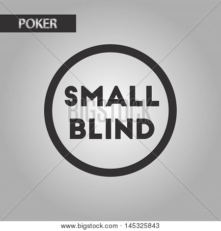 black and white style poker small blind, vector