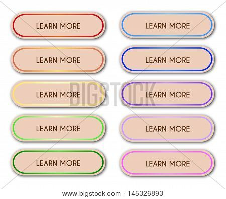 Set Of 'learn More' Buttons