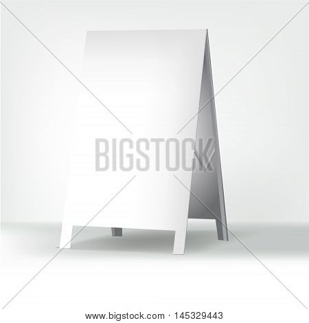 white advertising stand. vector on white background