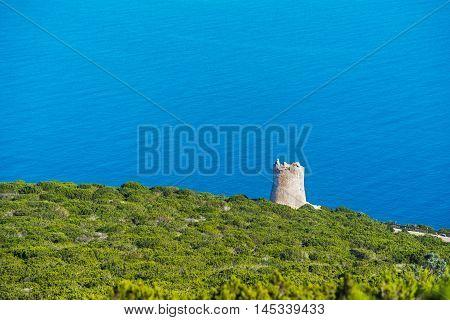 Sighting tower in Capo Caccia in Sardinia