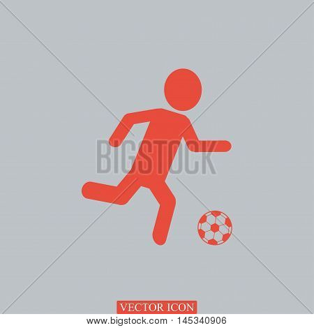 Raster Version. Soccer, Football Players Silhouettes