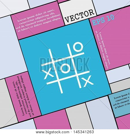 Tic Tac Toe Game Vector Icon Sign. Modern Flat Style For Your Design. Vector