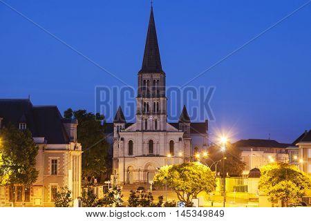 Saint Laude Church in Angers. Angers Pays de la Loire France