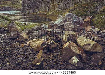 Lake In Abandoned Basalt Quarry