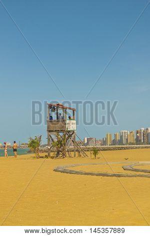 FORTALEZA, BRAZIL, DECEMBER - 2015 - Landscape view of one of the beaches of Fortaleza Brazil