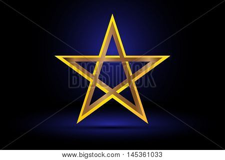 gold pentagram , yellow pentagram , pentagram ,