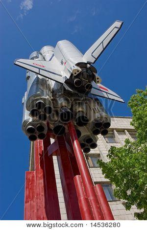 Model of Spaceship Buran in Samara, Russia