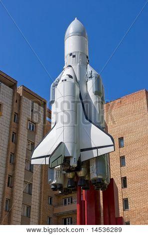 Model of Spaceship Buran in Samara Russia