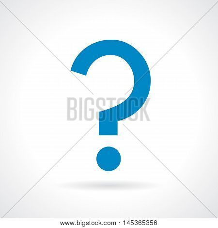 Question mark icon vector illustration isolated on white background