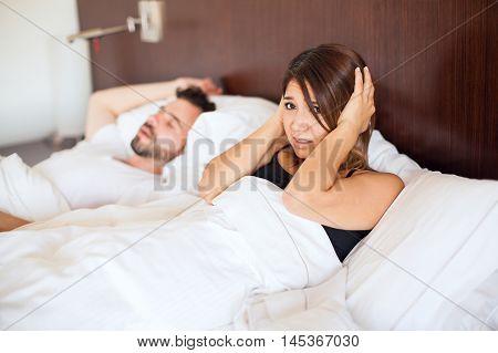 Snoring Partner In Bed