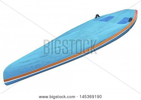racing stand up paddleboard in brushed carbon layout isolated on white with a clipping path