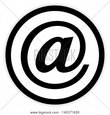 Email button on white background. Vector illustration.