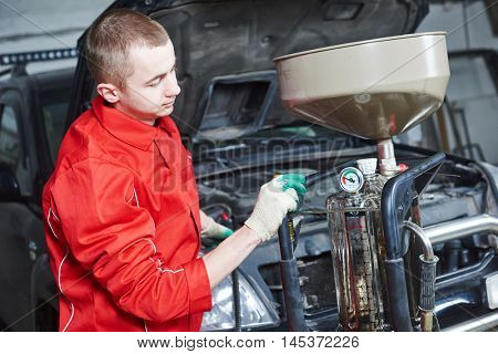 automobile car oil replacement work