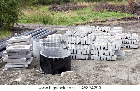 bunch of materials prepared for building construction