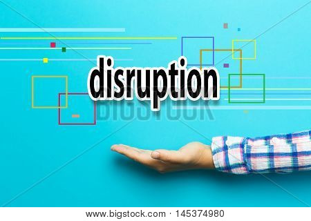 Disruption Concept With Hand