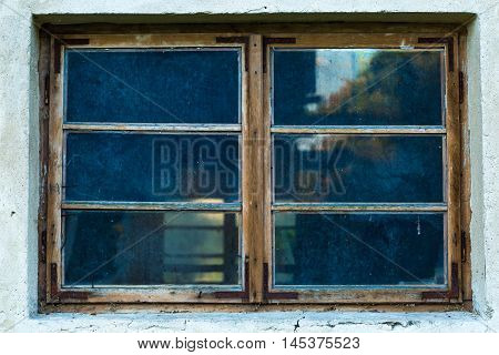 Old Abandoned Window, Detail Of A Window Of A House