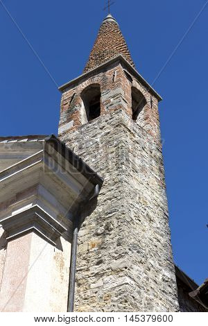 Steeple of the church of Santa Maria di Corte in Cividale Italy