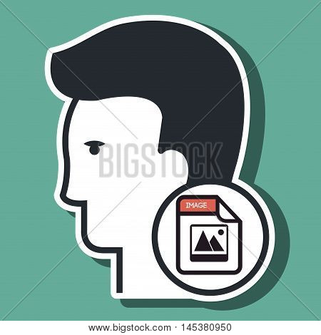 silhouette images photo icon vector illsutration icon