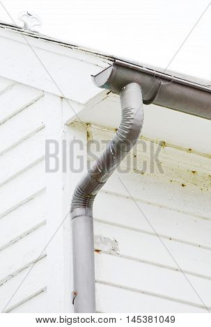 close up water Downspout on the house