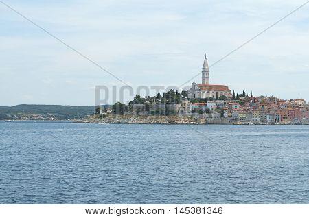 City Rovinj Rovigno in Istria Croatia from the Sea