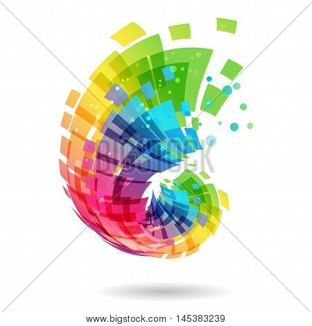 Abstract element multicolored design concept on white background