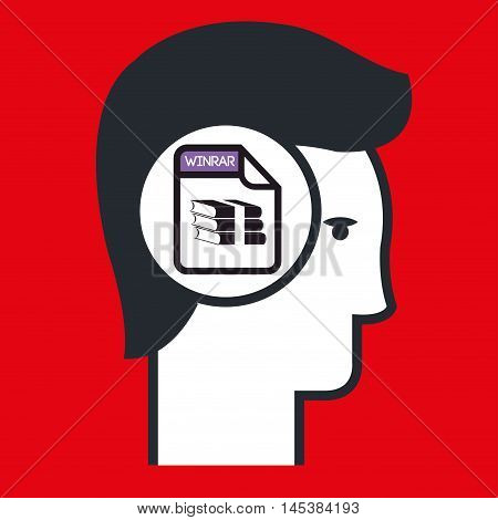 silhouette winzip icon vector illustration iconeps 10