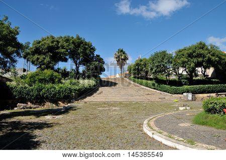 Lower Plaza In Presidio