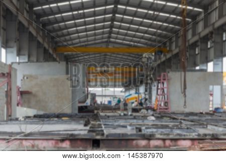 Defocus of construction supply steel rod and concrete sheet factory