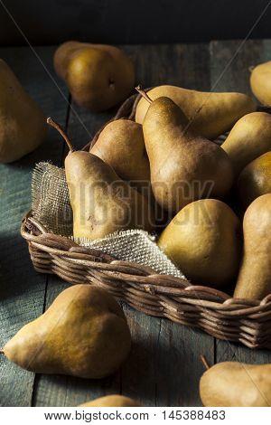 Raw Organic Green And Brown Bosc Pears