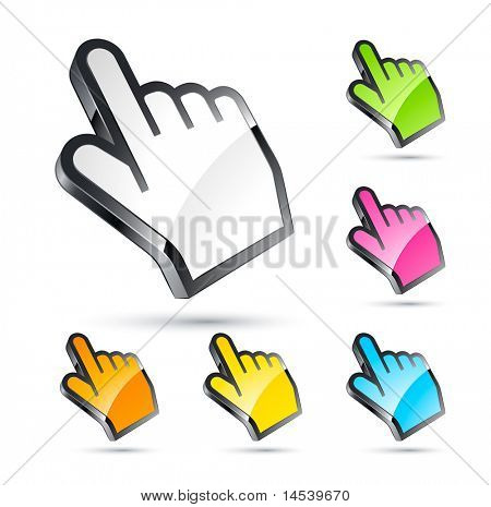 hand cursor set,